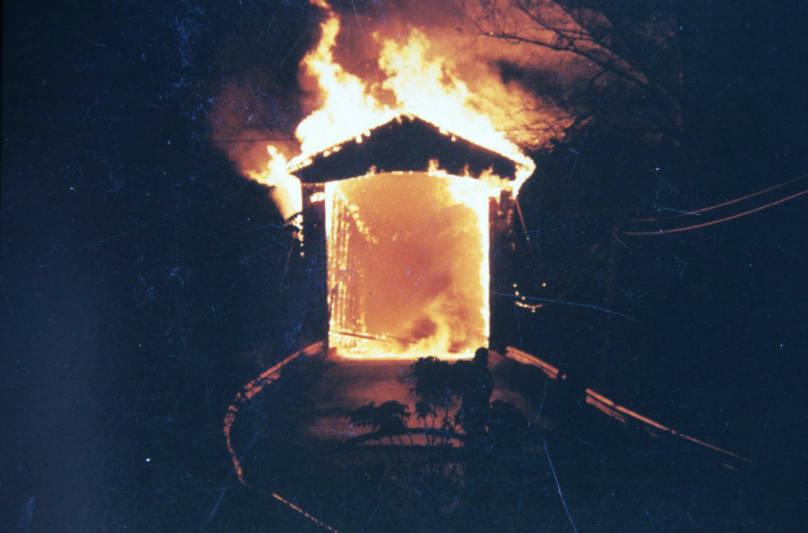 Roann Bridge Fire