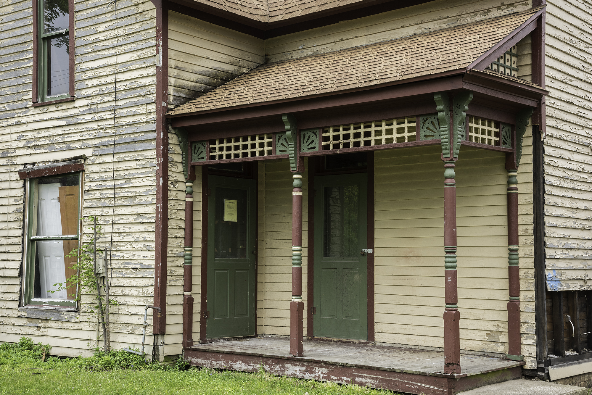 Home renovation restoring a historic porch indiana for Classic house fronts