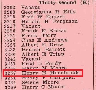 1916 Directory Hornbrook