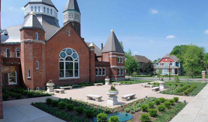 Indiana Landmarks Courtyard Detail