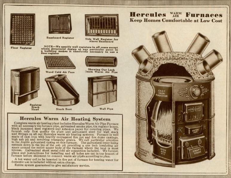 Vintage Hercules Furnace ad