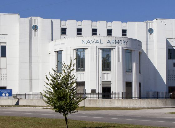 Indiana Landmarks partnered with Herron High School to save Indianapolis's Heslar Naval Armory on White River. The vacant 1936 building will debut in 2017 as Riverside High School, a classical-education charter school following the Herron High model, which includes community revitalization as a core value. (Photo: Hadley Fruits)