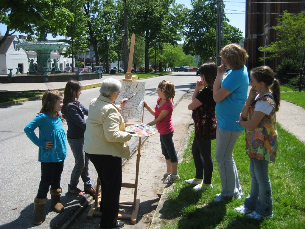 Historic Madison won a youth-serving Servaas Award for engaging fourth and fifth grade Mayor's Eagles in researching and documenting the city's landmarks (Photo: Historic Madison).
