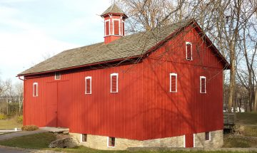 Huddleston Farmhouse barn red