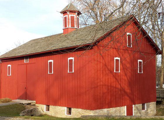 Huddleston Farmhouse barn red