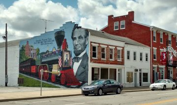 12 West Main Street, Cambridge City, Lincoln Mural