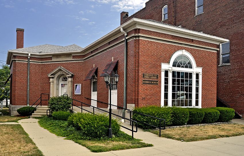 Cambridge City public library and Overbeck Pottery Museum
