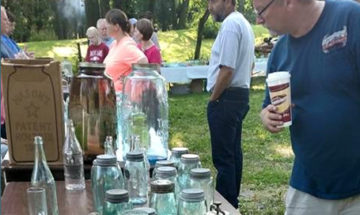 Glass and jar show at Huddleston Farmhouse