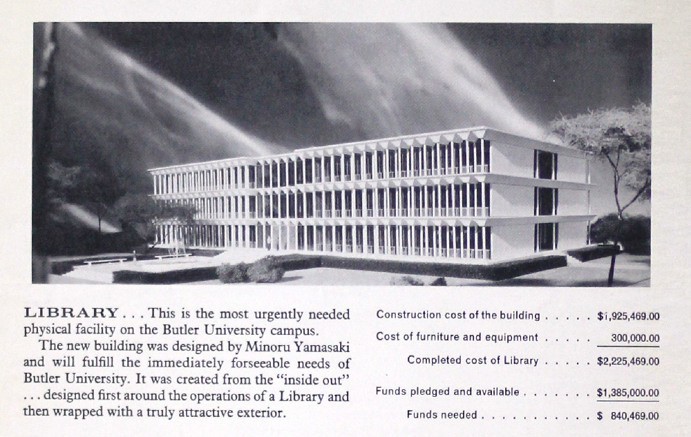 Irwin Library, Butler University, historic