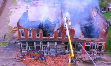 Koerner Block fire, Birdseye