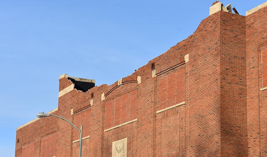 Muncie Fieldhouse damage