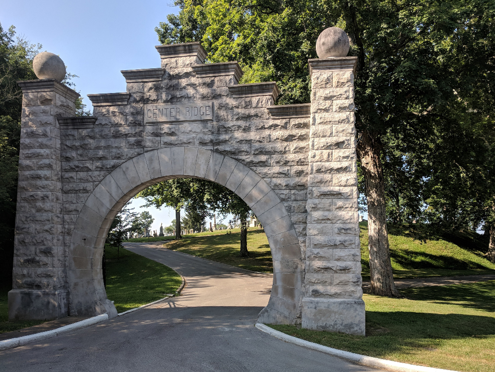 Center Ridge Cemetery entrance, Sullivan