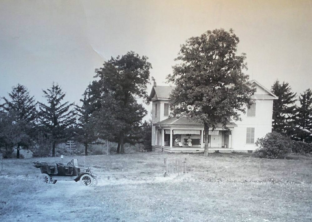 Marcus Dickey House with car