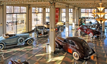 Auburn Cord Duesenberg Automobile Museum Showroom, Photo Credit Stephen Brown sjb4photos