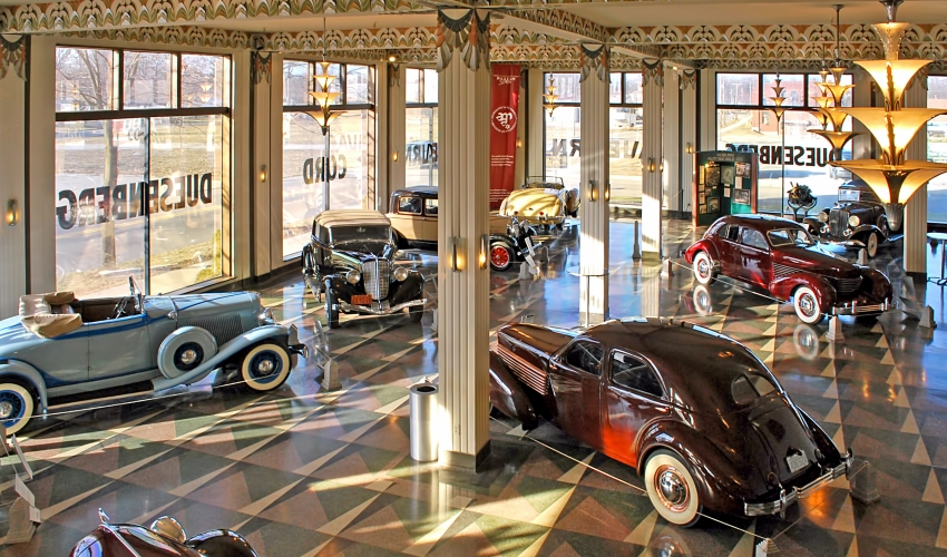 Auburn Cord Duesenberg Automobile Museum Showroom, Photo Credit Stephen Brown sjb4photos