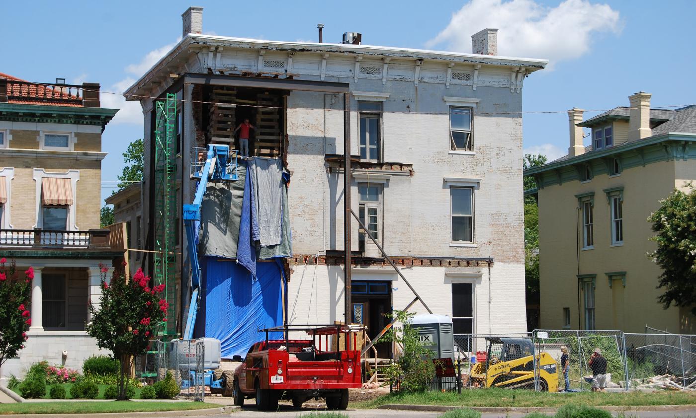 Damaged Raleigh House Evansville