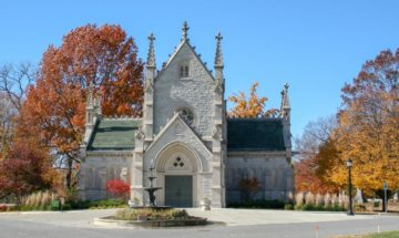 Gothic Chapel, Crown Hill Cemetery, Indianapolis.