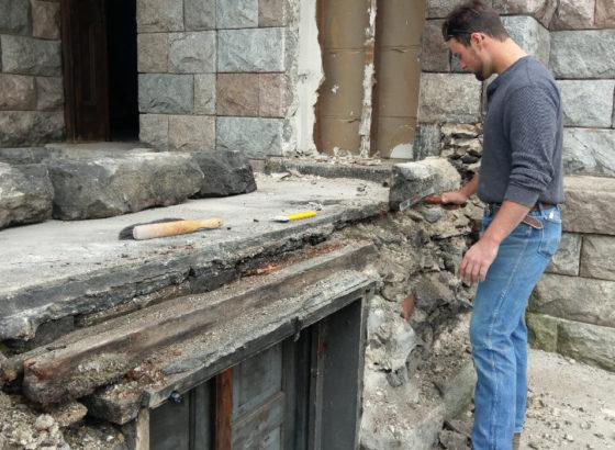 Kizer House masonry repair