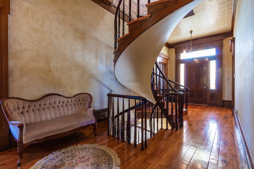 Ulysses P Schenck Mansion spiral staircase