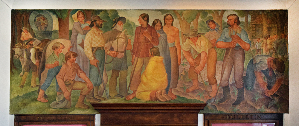Crown Point post office mural
