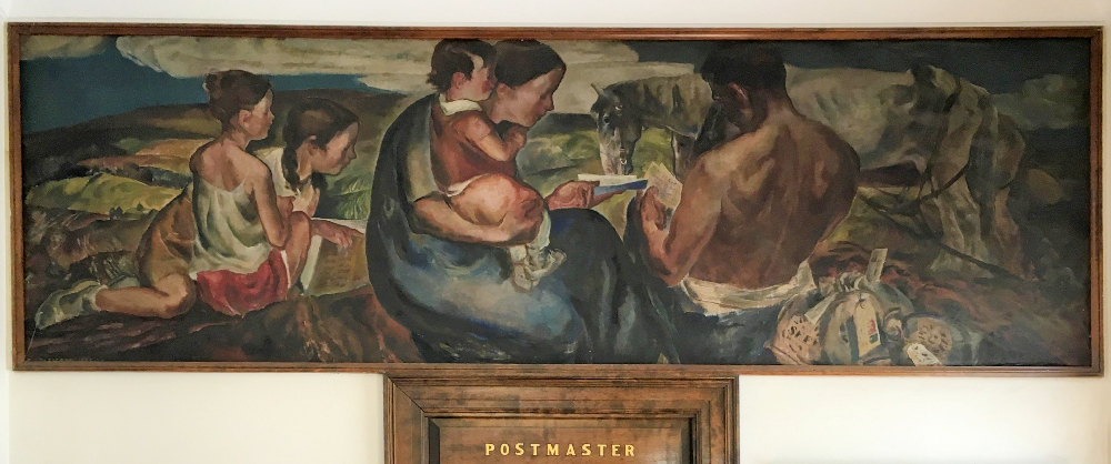 Rensselaer post office mural