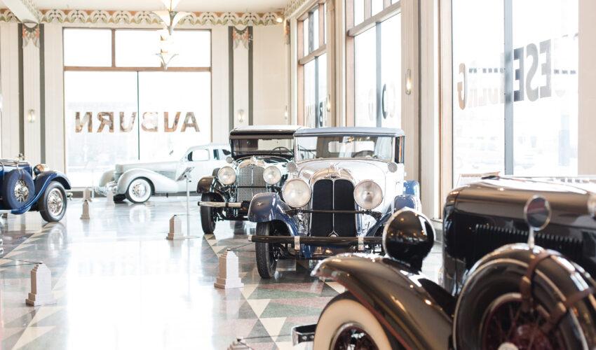 ACD Museum Showroom 2 - Photo courtesy Auburn Cord Duesenberg Automobile Museum