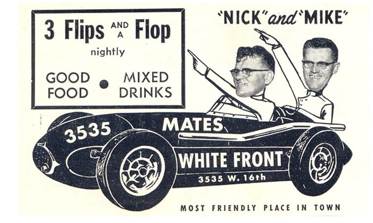 Mates' White Front Advertisement