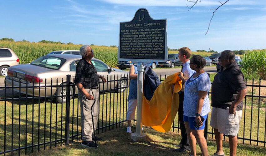 Thorntown Colored Cemetery marker unveiling