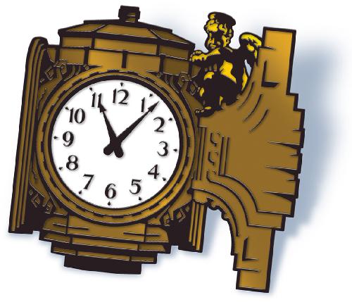 Ayres Clock Cherub pin