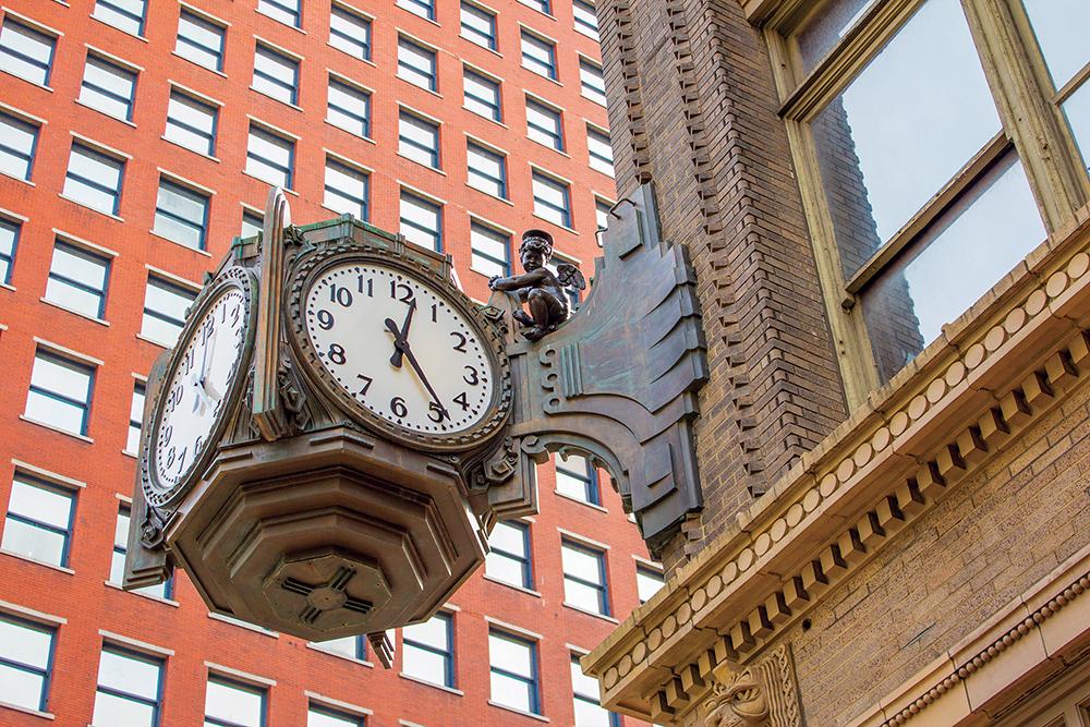 Ayres Clock with Cherub