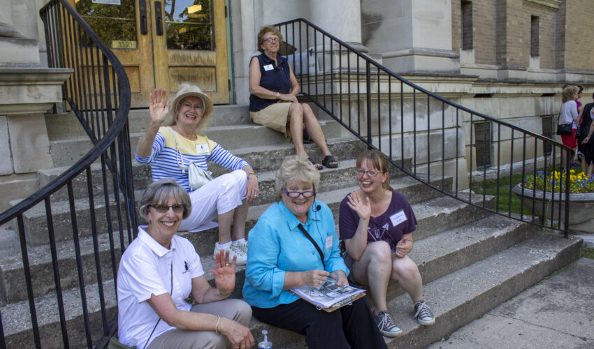 Indianapolis volunteers assist with tours of historic neighborhoods across the city.