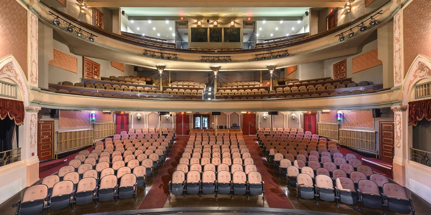 Eagles Theatre interior after restoration.